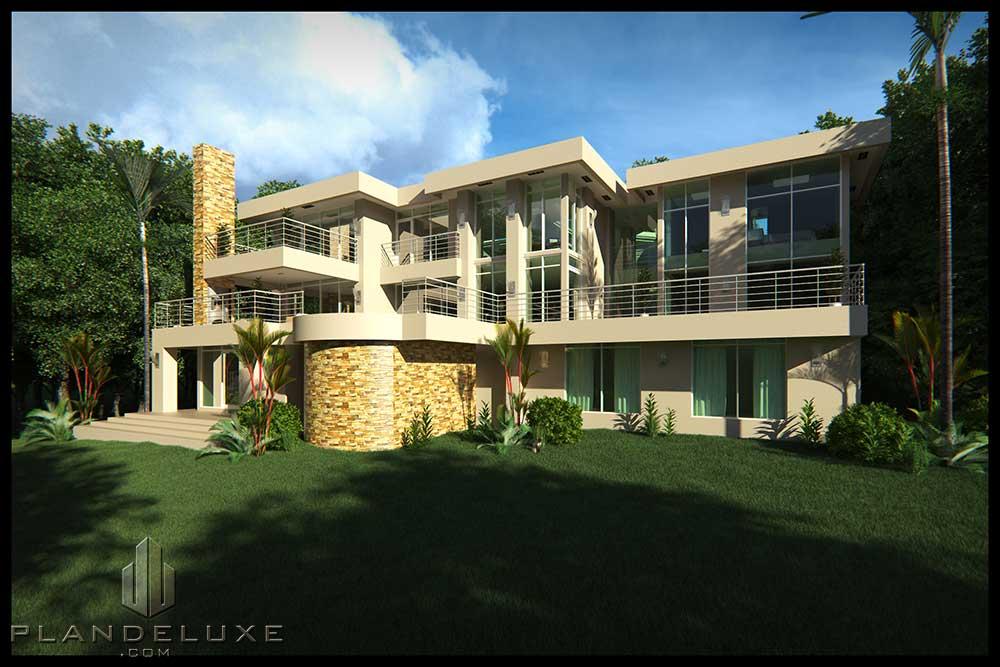 Modern House Plans + Basement 6 Bedroom House Design ...
