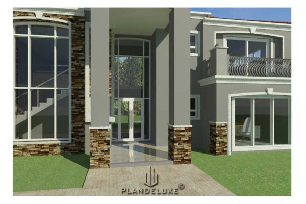 Unique 4 bedroom house plan with photos, Modern house plan with three garages, luxury house floor plans, tuscan house designs, double story house plans, Plandeluxe