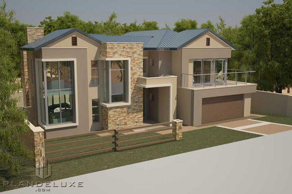 Modern 2 Story House4 bedroom floor plans modern house designs double storey modern house plans Plandeluxe