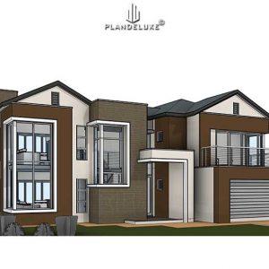 Modern 2 Story House4 modern 4 bedroom 2 story house designs Plandeluxe