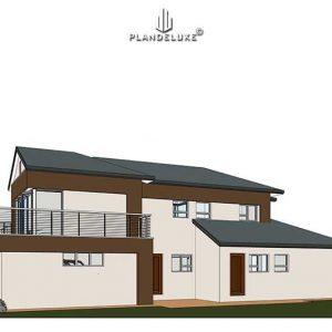 Modern 2 Story House4 bedroom house plans Plandeluxe