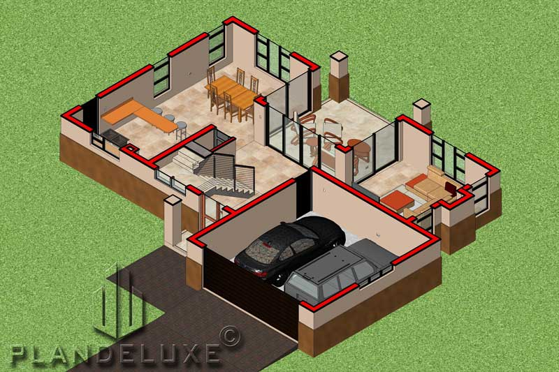 250sqm Double Story House Plan | Home Designs | Plandeluxe