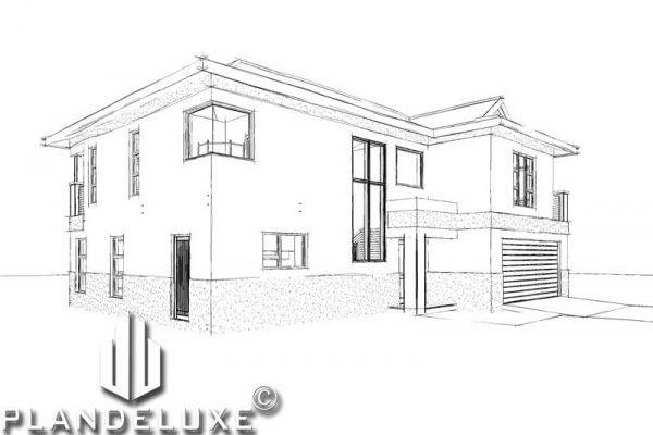 unique 3 bedroom house plans 3 bedroom 2 bathroom house plans 3 bedroom modern house plans 3 bedroom house plan design pdf 3 bedroom house floor plans Plandeluxe