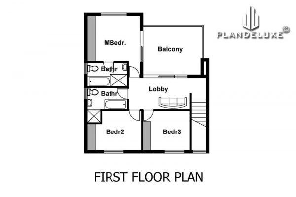 3 bedroom house plans pdf downloads, Unique 3 bedroom house plan with photos house plans for sale double story house plans Plandeluxe