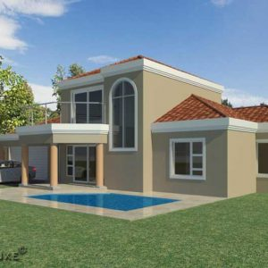 3 bedroom house plan with double garage, double story house plan with photos, Ground floor plan, Plandeluxe