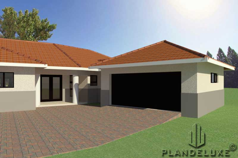One Story 4 Bedroom House Plan Ranch House Designs Plandeluxe
