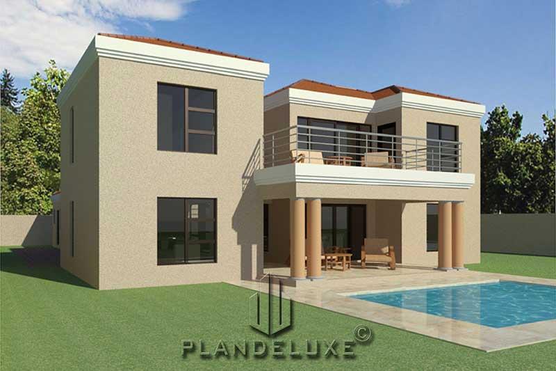 Double Story 4 Bedroom House Floor Plan | Home Designs ...