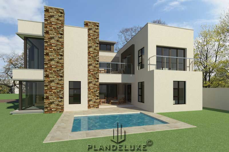 4 Bedroom Modern House Plan For Sale Home Designs Plandeluxe