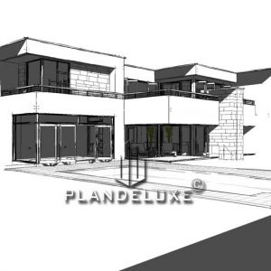 Modern 4 bedroom house plans double story Contemporary 4 bedroom house designs double story 4 bedroom modern house floor plans double story 4 bedroom house plans for sale 4 bedroom house building plans modern contemporary house designs Plandeluxe