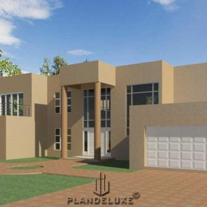 Modern 4 Bedroom house plans, double story house plan, modern house designs, Plandeluxe
