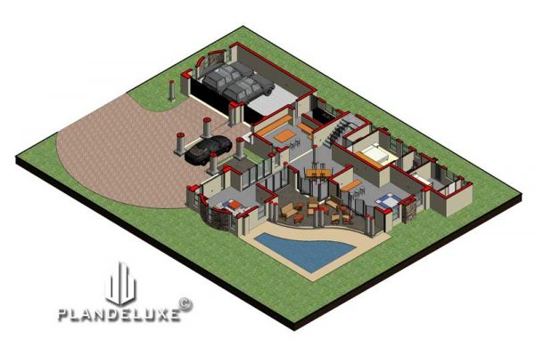 5 Bedroom House Plan designs 5 bedroom house floor plans 5 bedroom modern house plans 5 bedroom ranch house plans 5 bedroom 2 story house plans Plandeluxe