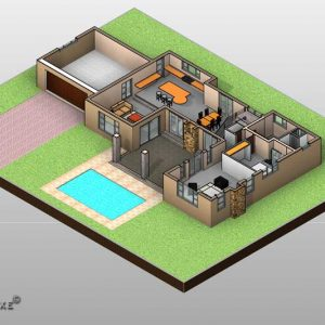 Double story ranch style house plan, House plans with photos, Plandeluxe