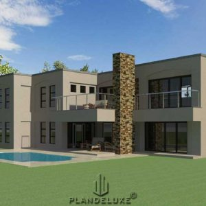 4 bedroom modern house plans, floor plans, floorplanner, South African house plans designs, Plandeluxe