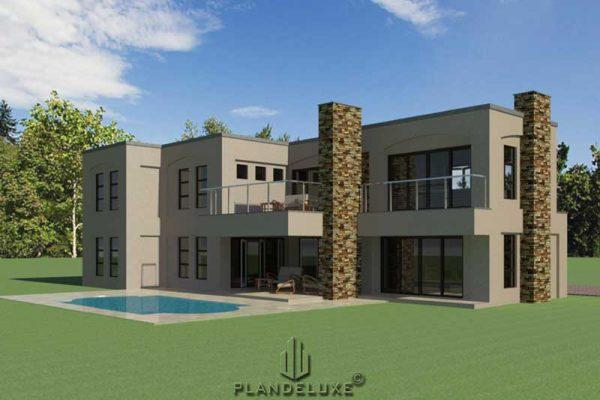 4 bedroom modern house plans, floor plans, floorplanner, South African house plans designs, Plandeluxe
