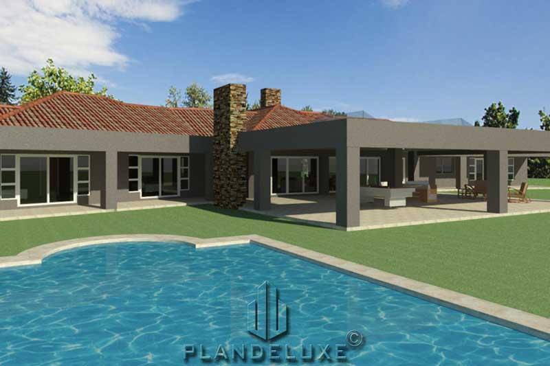 Simple 4 Bedroom Ranch House Floor Plan Home Designs Plandeluxe