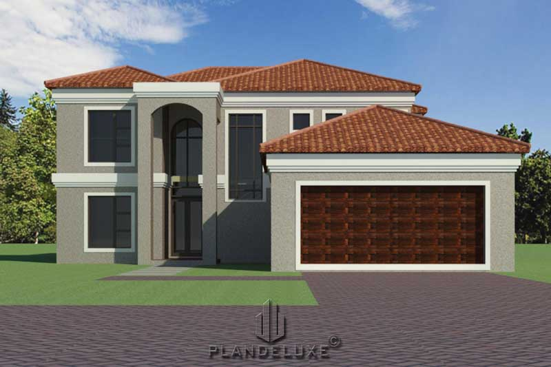 238sqm 3 Bedroom Modest Double Story House Plan House Designs Plandeluxe