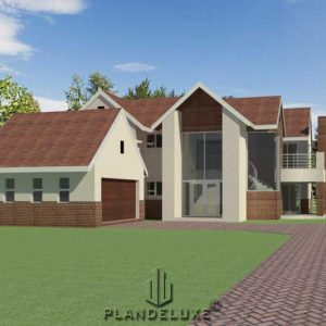 4 bedroom house plan design, double story house plan, contemporary home design, Plandeluxe