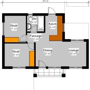 House plans for sale 2 bedroom house plans pdf downloads floor plans Plandeluxe