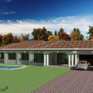 simple 3 bedroom modern house plan Low Budget Modern 3 Bedroom House Design simple 3 bed 2 bath floor plans cheap 3 bedroom 1 story house plan Plandeluxe