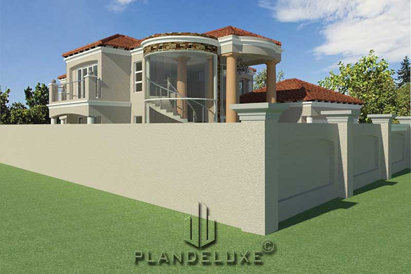 4 Bedroom Double Story House Plan | Modern Home Designs ...