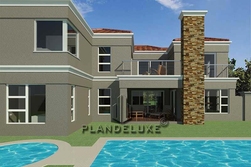 Modern 4 Bedroom Double Story House Floor Plan 326sqm ...