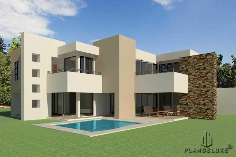 Double Story 4 Bedroom House Plan | Modern House Plans ...