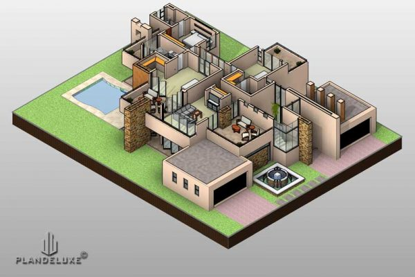 Modern house plans for sale, Double story house plans designs, Plandeluxe