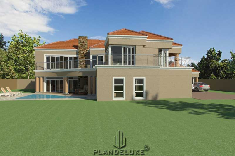 Double Story 5 Bedroom House Floor Plan | Home Designs ...