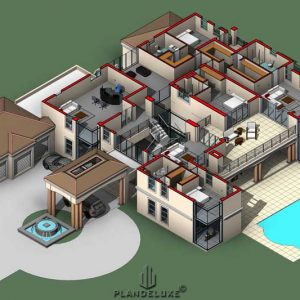 Luxury house plans with porte cochere house plans with garage mansion floor plans images Plandeluxe