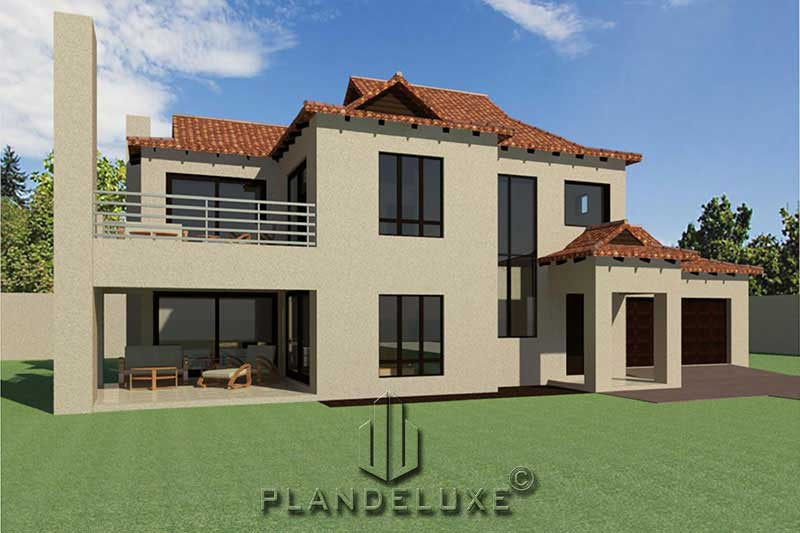 3 Bedroom Double Story House Plan | Home Designs | Plandeluxe
