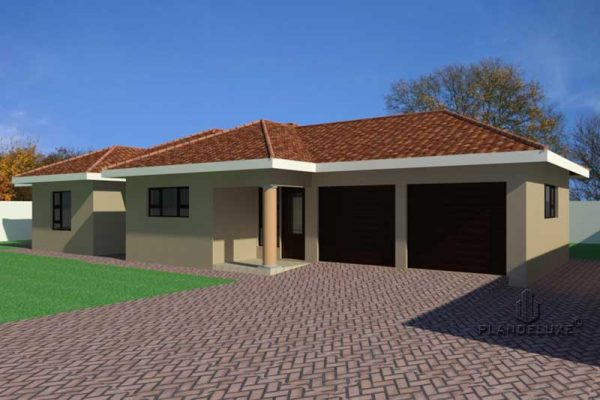 Simple 3 BEDROOM HOUSE PLANS PDF DOWNLOAD, Single story house design, traditional style house plans, Plandeluxe
