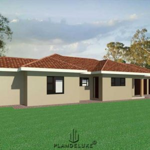 sIMPLE 3 BEDROOM HOUSE PLANS PDF DOWNLOAD, Single story house design, Plandeluxe