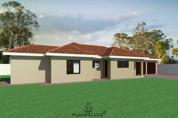 sIMPLE 3 BEDROOM HOUSE PLANS PDF DOWNLOAD, Single story house design, Plandeluxe