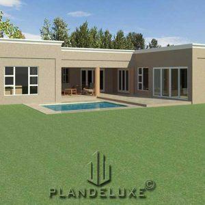 u shaped floor plans modern 4 bedroom house plans u shaped house images Plandeluxe