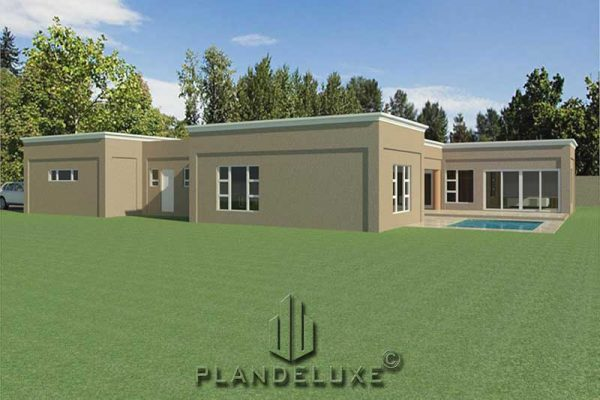 4 room 1 story house plans u shaped building plans Plandeluxe