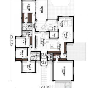 u shaped house plans breezeway floor plans courtyard floor plans Plandeluxe