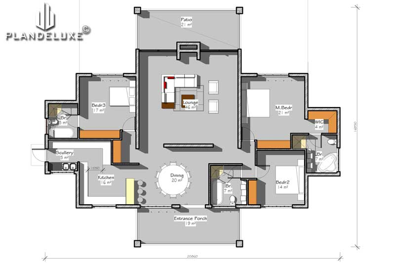 361sqm Single Story Contemporary Style House Plan | Home ...