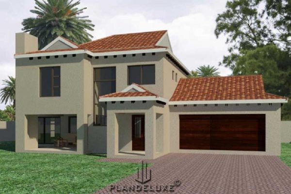 Unique 3 bedroom house plan, Double story houseplans South Africa, 3 bedroom house plan with garages, unique house plans with photos, Plandeluxe